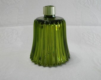 Home Interiors Vintage Glass Green Ribbed Candle Cup for a Candle Holder Sconce
