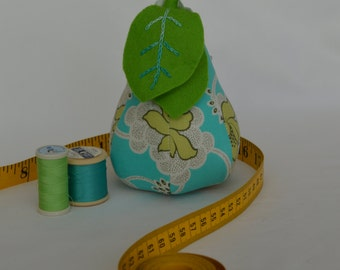 Pear Pin Cushion- Blue/Green