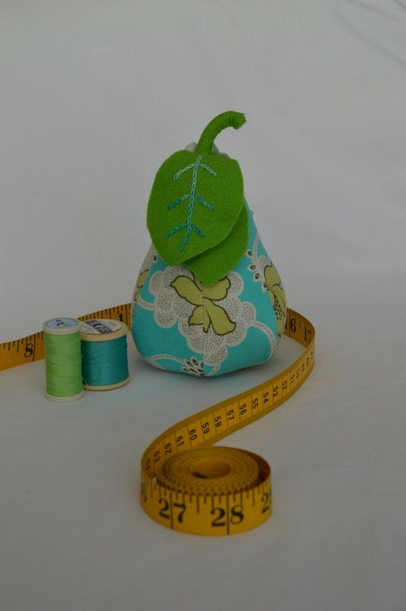 Pear Pin Cushion- Blue/Green