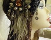 Tribal Belly Dance, Tribal Fusion Belly Dance, 20's Style Headdress, Flapper, Ornate Headdress, Unique