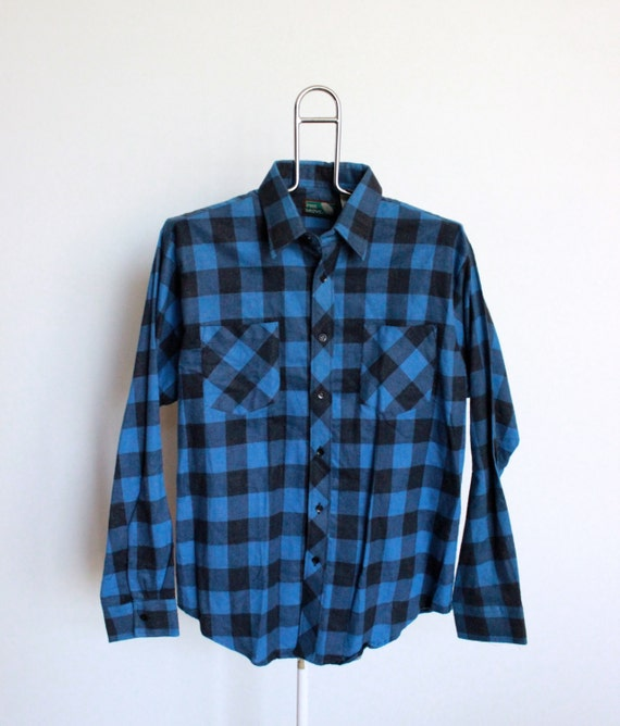 Sale Vintage Buffalo Plaid Flannel Shirt By