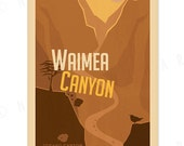 Waimea Canyon - 12x18 Retro Hawaii Print