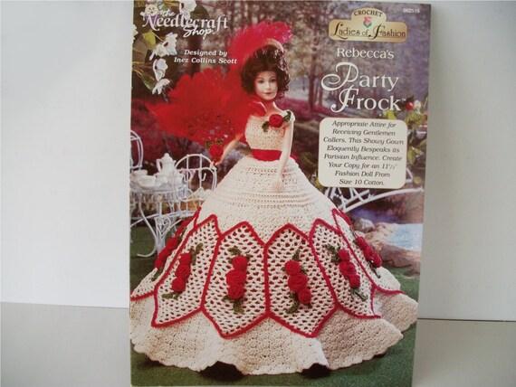 Crochet Pattern Book: Rebecca's Party Frock Doll Dress Thread Crochet Pattern for 11.5 Inch Dolls Needlecraft Shop