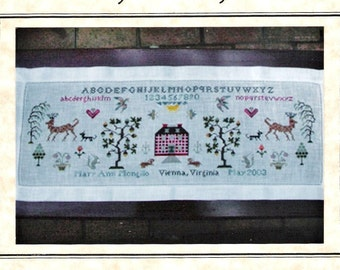 Antique Sampler Sideboard Cross Stitch Pattern