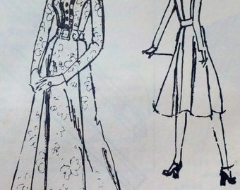 1970s Spadea 72471 Vintage Womens Sewing Pattern Midi or Evening Dress by Tiziani Bust 36""
