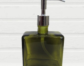 Green Soap Dispenser | Eco-Friendly Lotion Dispenser | Bronze Bathroom Accessories