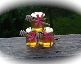 Breast Cancer Survivors Party Favors, Raw Honey Favors,  24 Jars Filled FRESH & Safety Sealed