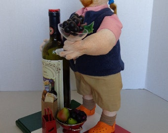 Chef MARIO BATALI / One of a kind / Handmade Cloth Art Doll / For Collectors