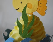 Goldfish Cupcake Toppers In Your Choice of Color Qty 12 By Your Little Cupcake