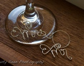 Engagement Gift New Couple, Mr & Mrs Wine Charms