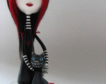 Art Doll- Custom Art Doll - Paper Clay Sculpted