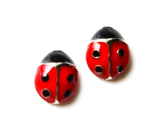 Ladybug Cufflinks - Gifts for Men - Anniversary Gift - Handmade - Gift Box Included