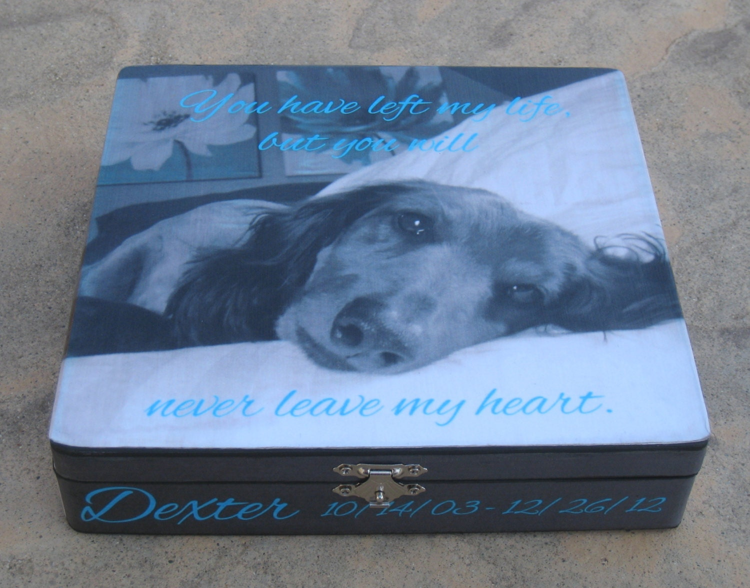 Pet Memorial Keepsake Box Personalized Photo Keepsake Box