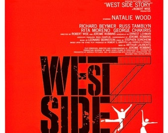 "West Side Story - Movie Musical Poster Print - 13""x19"" or 24""x36"" - Home Theater Media Room decor - Broadway Musical - Mid Century Modern"
