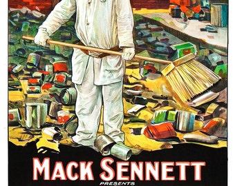 Feet of Mud - Silent Movie Poster Print  13x19 - Home Theatre Decor - Vintage Movie Poster - Mack Sennett Harry Langdon