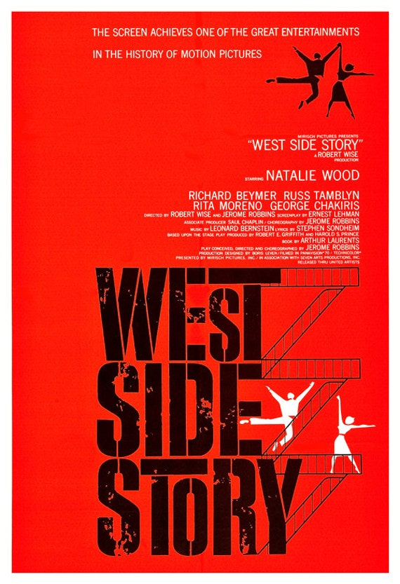West Side Story Movie Musical Poster Print