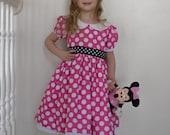 Minnie Mouse Costume Dress, Pink Polka Dots