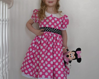 Minnie Mouse Costume Dress, Pink Polka Dots