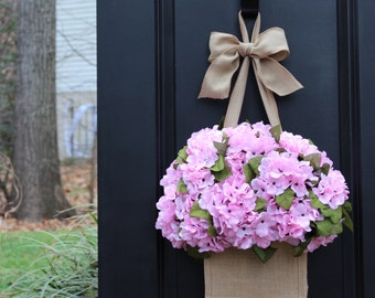 Spring Wreath - Valentine Wreath - Hydrangea Wreath - Many Color Options