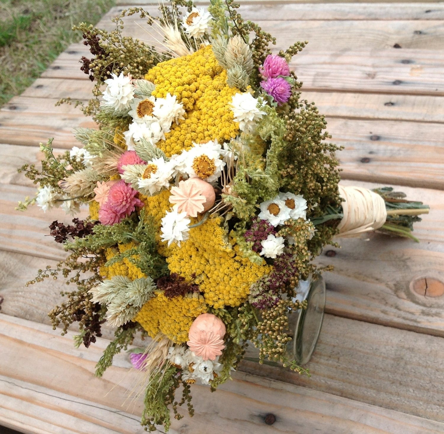Dry Wedding Flowers: Items Similar To Vintage Wildflower Collection