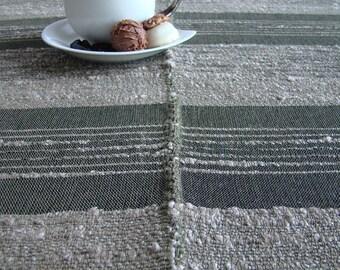 Handwoven Linen Tablecloth - Natural colour - Hostess gift - table linen