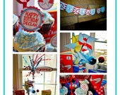Dr Seuss Inspired Birthday Something Like Soos Party Printables FULL Collection