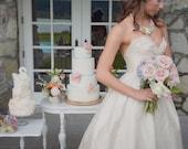 Silk Strapless Ballgown Wedding Dress, Sweetheart wedding dress, Corset Back Ball Gown Wedding Dress, Eco-Friendly made in Canada