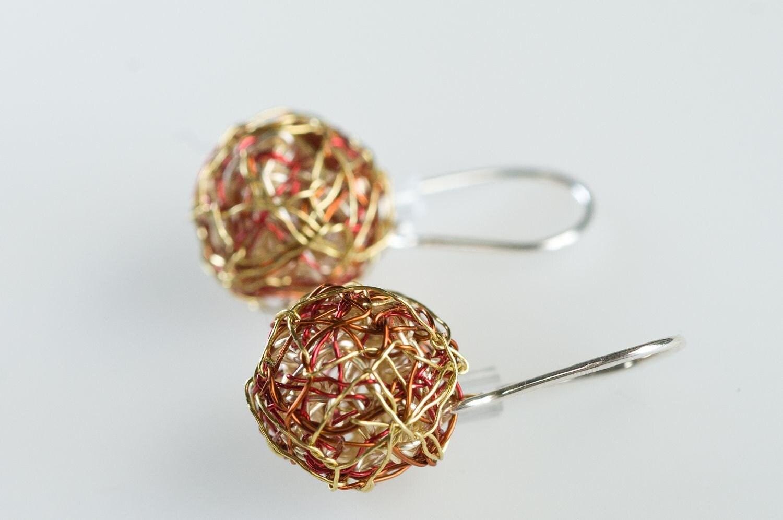 Minimalist earrings drop ball earrings short dangle for Minimal art jewelry