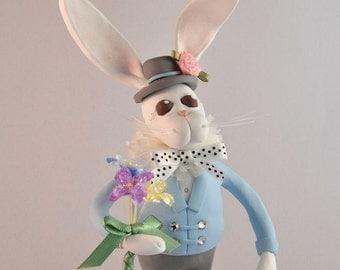 Polymer Clay Easter Bunny Figurine