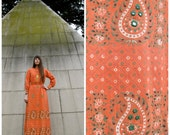 Ramona Rull MIRRORED INDIA Hippie Goddess Gown