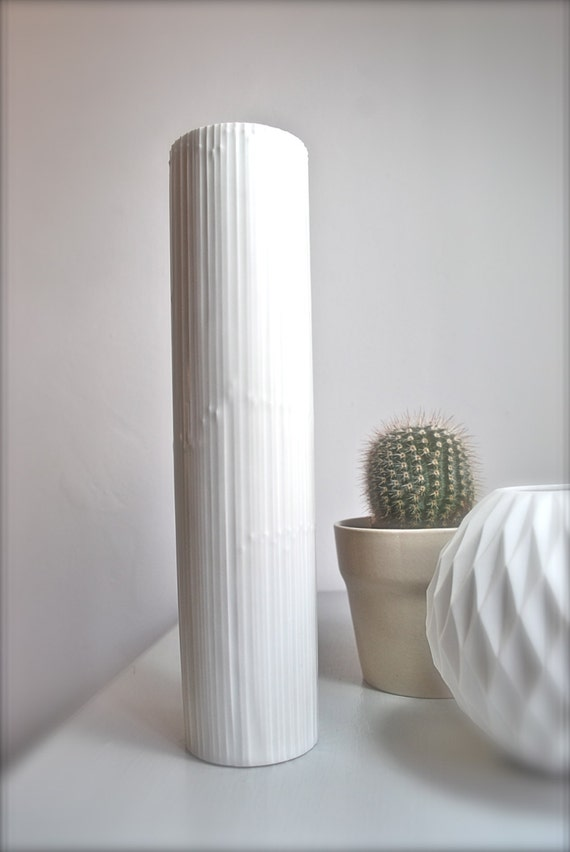 Tall Modernist Tapio Wirkkala for Rosenthal Pearl White Matte Porcelain Vase