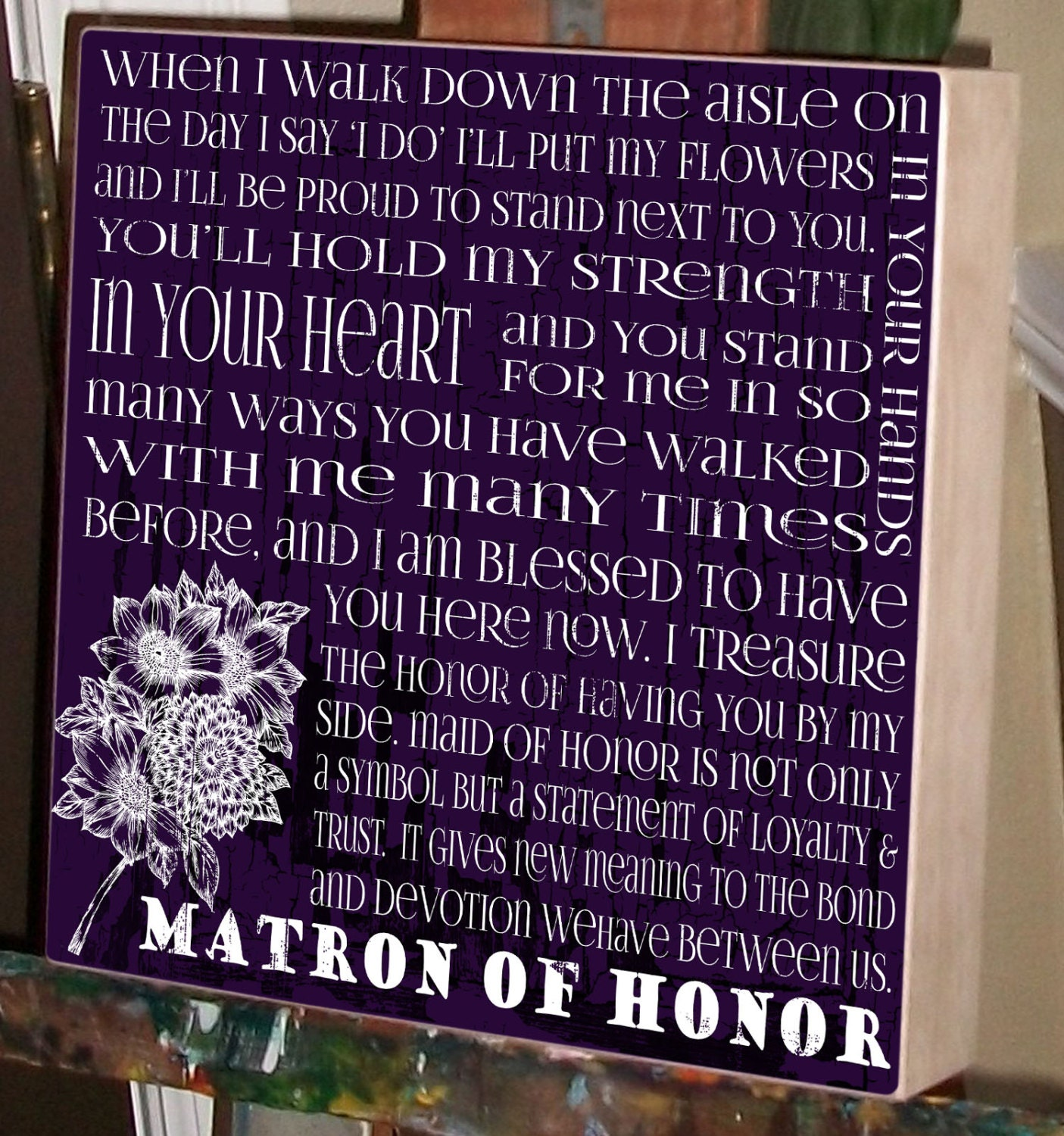 Maid Of Honor Bridal Party Matron Of Honor Wedding Gift
