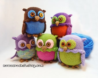 Owl mini storage box - PDF crochet pattern