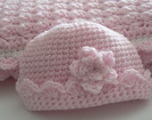 Crochet Pattern Baby Beanie Hat with Shell Detail Baby Boy or Girl Layette with Applique Baby Photo Prop Newborn 0 - 3  months 3 - 6 months