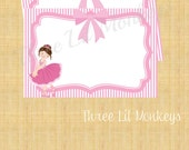 INSTANT DOWNLOAD-Ballerina Thank You Cards (PDF File)
