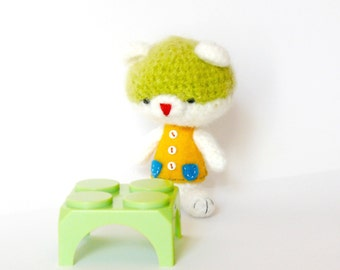 Teddy bear amigurumi crochet, Plush bear. Miniature Teddy Bear, toys