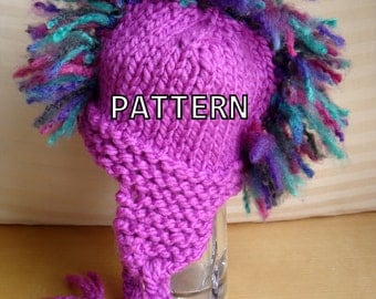 Knitting Pattern PDF - Mohawk Hat Pattern - Instant Download - Pattern for Baby, Toddler, Child Sizes
