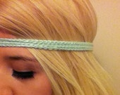 Crochet Mint Headband-  Hippie headband- Pick your color