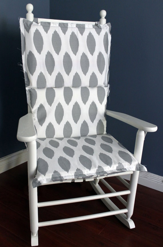 Rocking Chair Cushion Grey Ikat By RockinCushions On Etsy