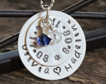 Mommy Name Necklace Hand Stamped And Personalized Sterling Silver - You Are Worth It All