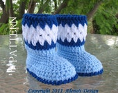 Crochet Pattern 026 - Toddler Booties - Toddler - Boy - Girl - Child - Winter Booties - Blue Boots - Slippers