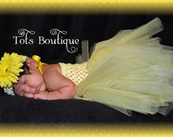 Yellow Tutu Dress- Baby Girl