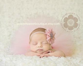 Pink Baby Girl Tutu Pink Tutus Pink Baby Tutus Pink Tutu Set Pink Newborn Tutu And Flower Headband Pink Newborn Tutu Set Newborn Photo Prop