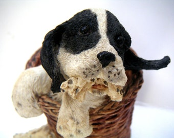 Vintage Ceramic Dog Figurine, Paw Print, Exclusively Distributed by Goebel, Pets,Pet Parents,Border Collie