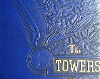 Vintage Yearbook - Central District Catholic High School, Pittsburg, PA. The Towers 1944,Memory Lane,Keepsake