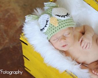 Newborn Hat, Baby Chick Hat, Baby Bird Beanie, Baby Owl Hat, Crochet Baby Hat, Baby Girl Hat, Baby Boy Hat, Crochet Hat, Baby Photo Prop