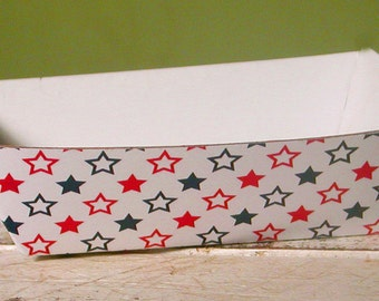 Red and Blue Stars Patriotic, 4th of July Paper Food Tray - Set of 12