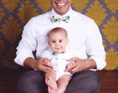 Father son bowtie sets - Choose from ALL fabrics currently in shop - pre-tied, clip-on - groomsmen, groom, father's day, father son sets