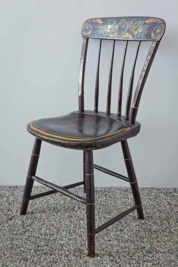 Antique hitchcock chairs 1860 1870 by lavintagefurnishings on etsy