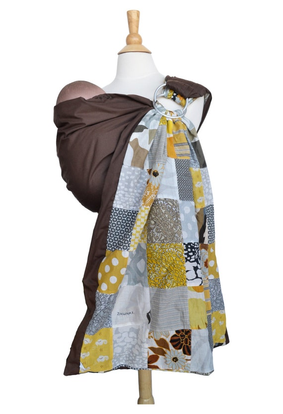 Baby Ring Sling Carrier Rvsbl 2 Layers of High Quality Printed Cotton -Quilt Chic - Baby Carrier